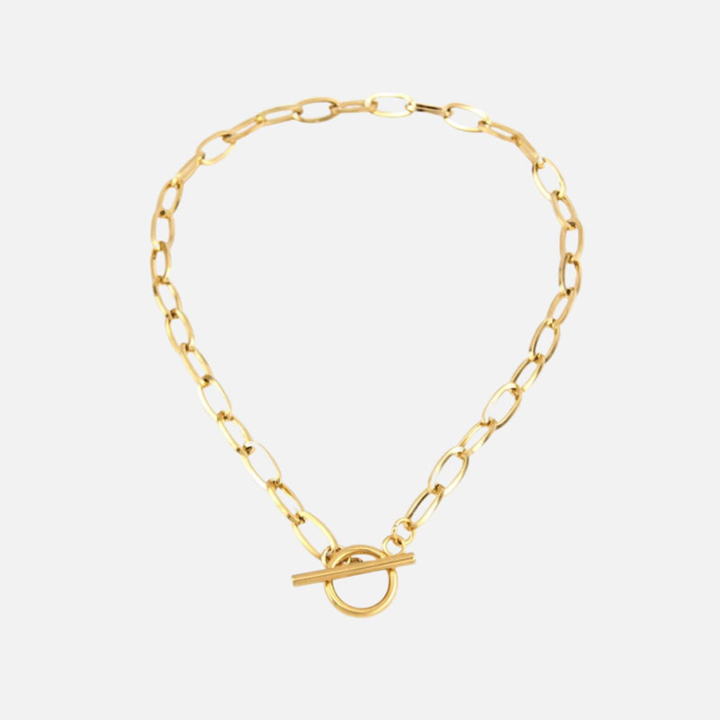 T Bar Choker Gold Necklaces Adorn Lab