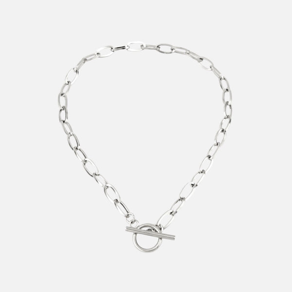 T Bar Choker Silver Necklaces Adorn Lab