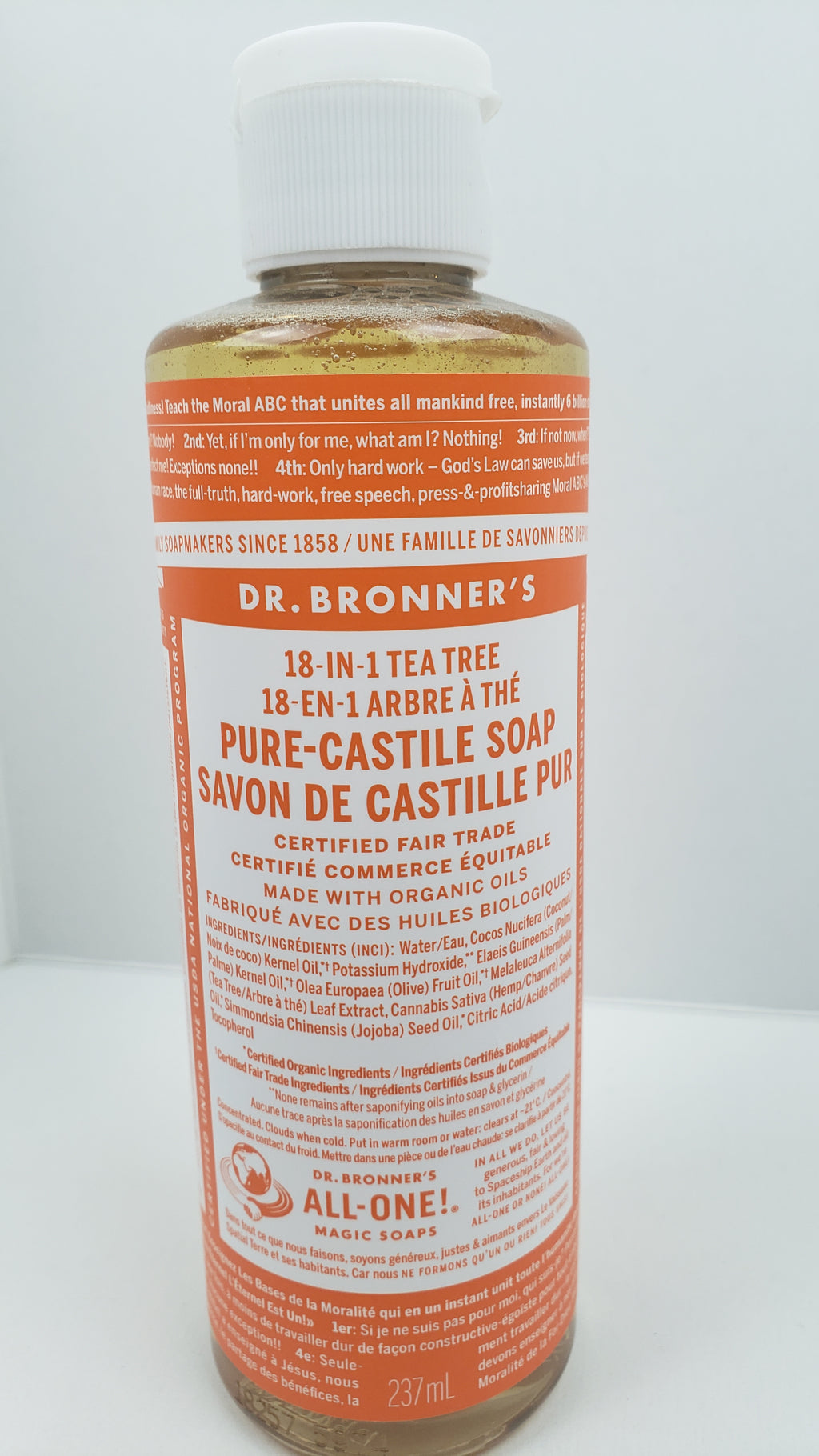 DR BRONNERS Liquid Castille Soap 237ml - Tea Tree