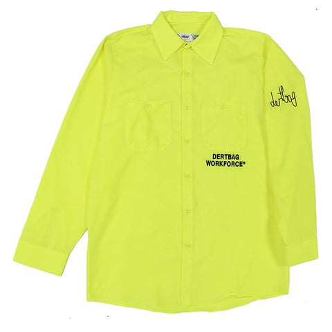 DERTBAG WORKFORCE* FLURO SHIRT