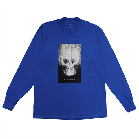 ROYAL BLUE FUCK YOU VERY MUCH MOCK LONGSLEEVE