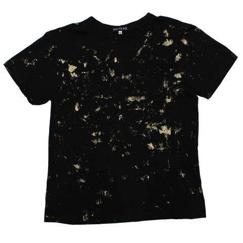BLACK T-SHIRT PAINTED PROTOTYPE #3 - LARGE