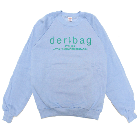 BABY BLUE VINTAGE JERZEES SWEATER - MEDIUM