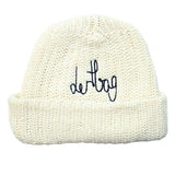 Antique White Knit Beanie