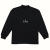 Black French Terry Turtleneck