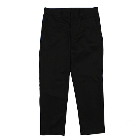 Cropped Black Twill Pants