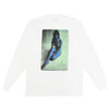 WHITE BLUEBERRY NUDE MOCK LONGSLEEVE