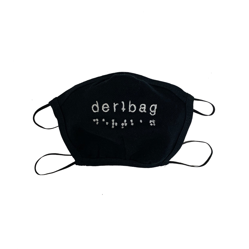 DERTBAG EMBROIDERED BRAILLE FACEMASK