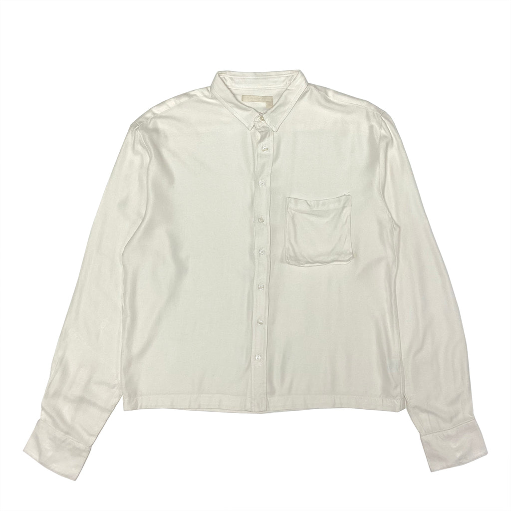 BRAILLE BUTTON DOWN RAYON TWILL SHIRT