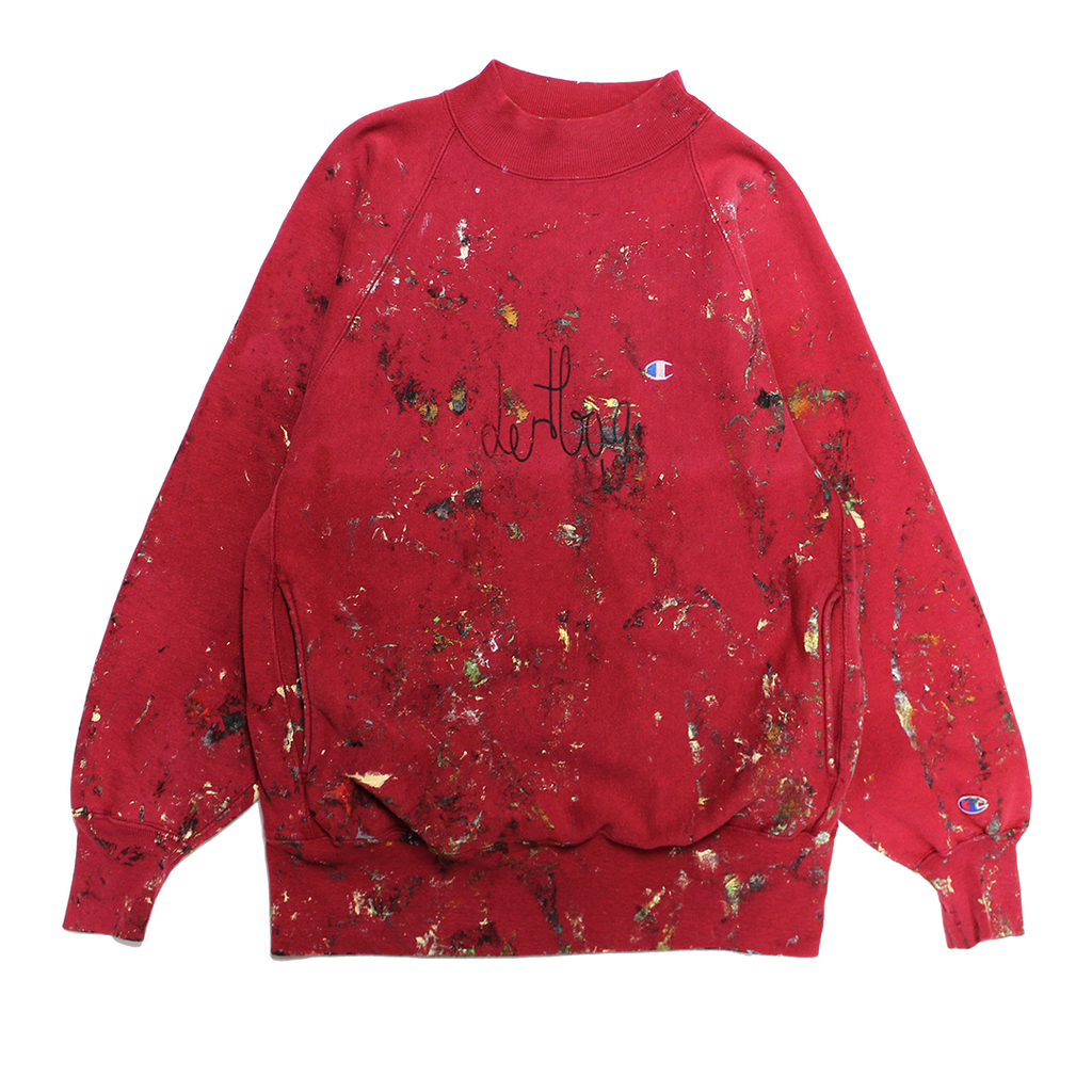 PAINTED MOCKNECK SWEATSHIRT