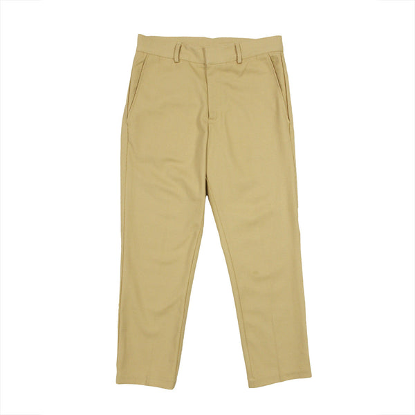 Cropped Tan Diaganol Corduroy Pants