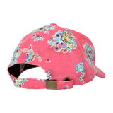 PINK FLORAL CORDUROY POLO CAP