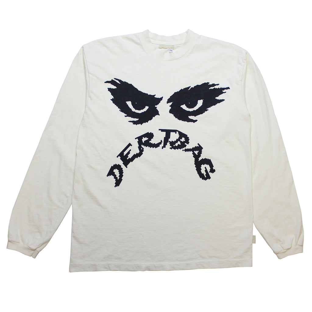 Alien Eyes Antique White Longsleeve