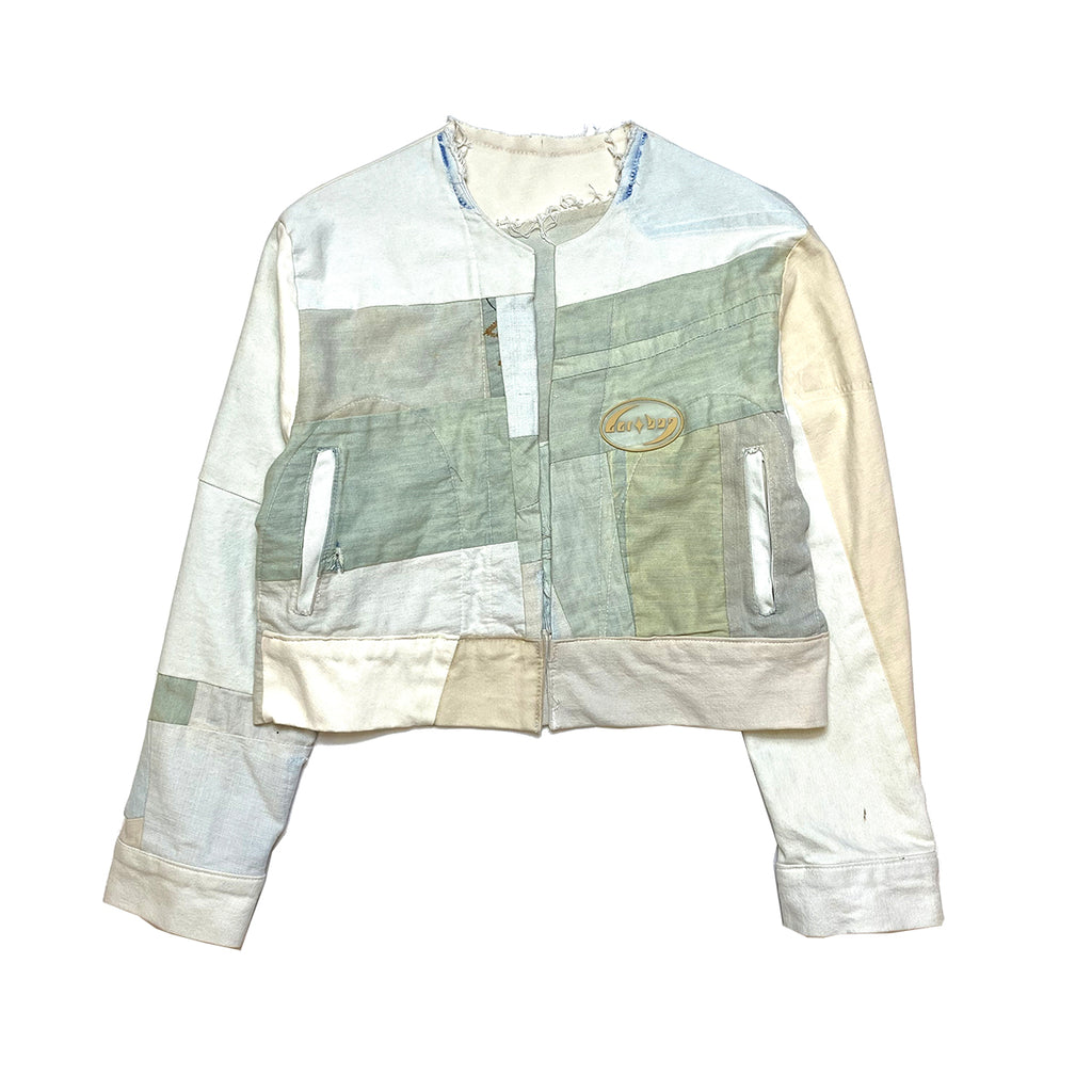 PANELED DENIM HEALING SERVICE JACKET