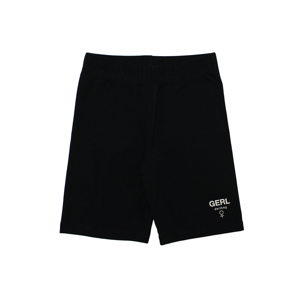 GERL BLACK BIKER SHORTS