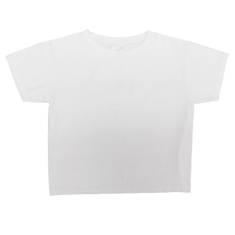 GERL GODLY WHITE DERTBAG EMBROIDERY T-SHIRT