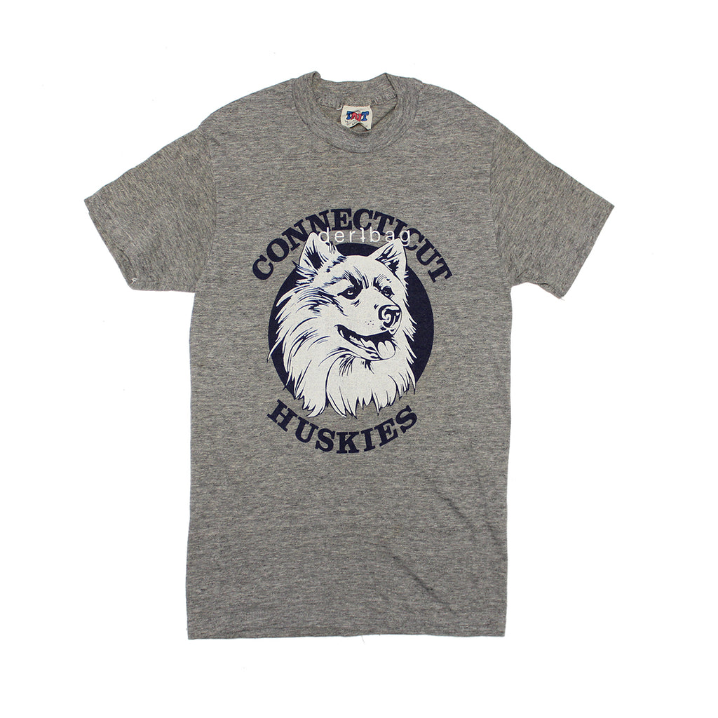 VINTAGE 80S HUSKIES T-SHIRT PRINTED PROTOTYPE - SMALL