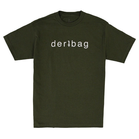 Military Green Logo Puff Print
