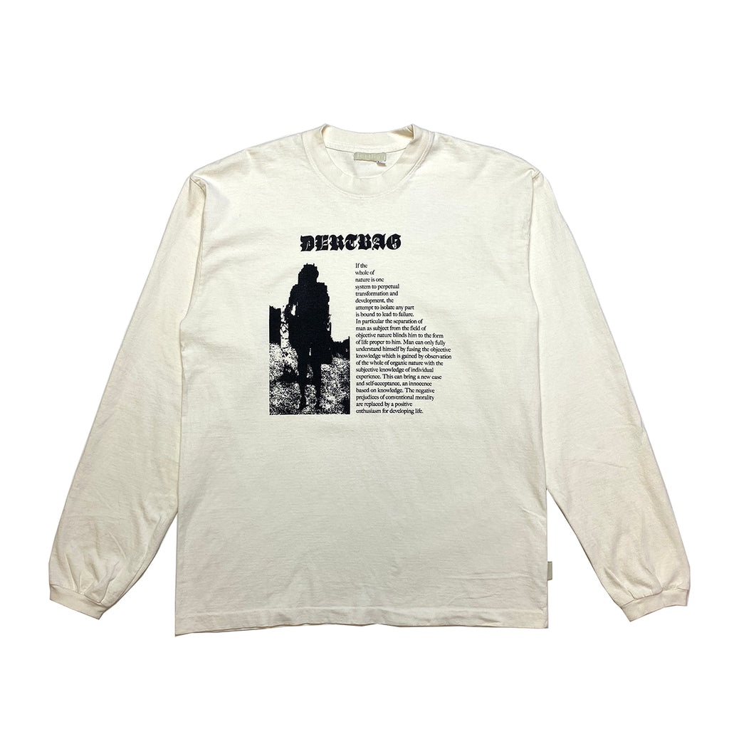 NATURE MENDS MEN CREME LONGSLEEVE T-SHIRT