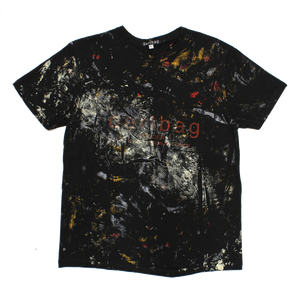 BLACK T-SHIRT PAINTED PROTOTYPE #1 - LARGE