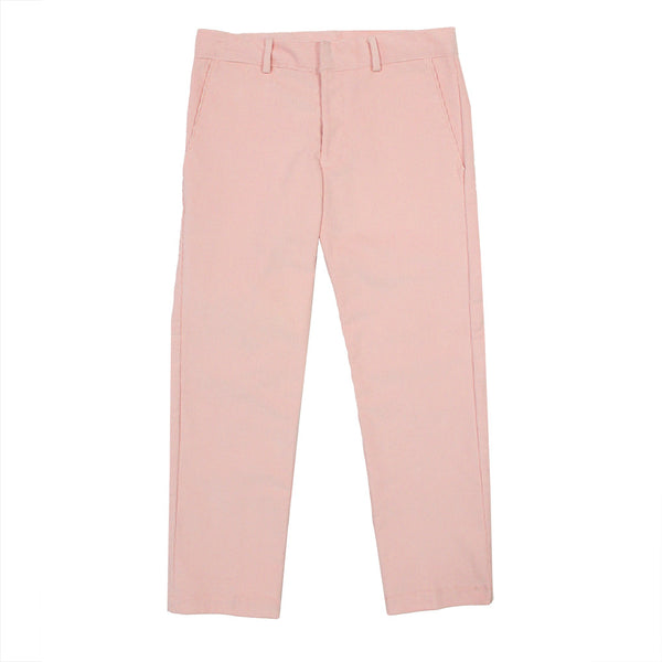 Cropped Pink Corduroy Pants