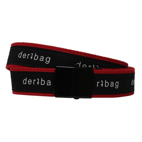RED DERTBAG WEB BELT