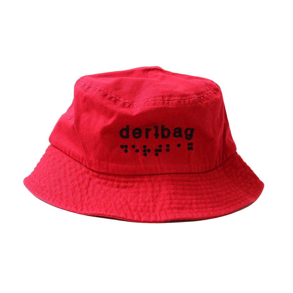 Red dertbag Bucket Hat