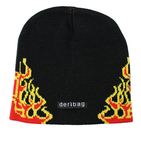 RED SIDE FLAME BEANIE