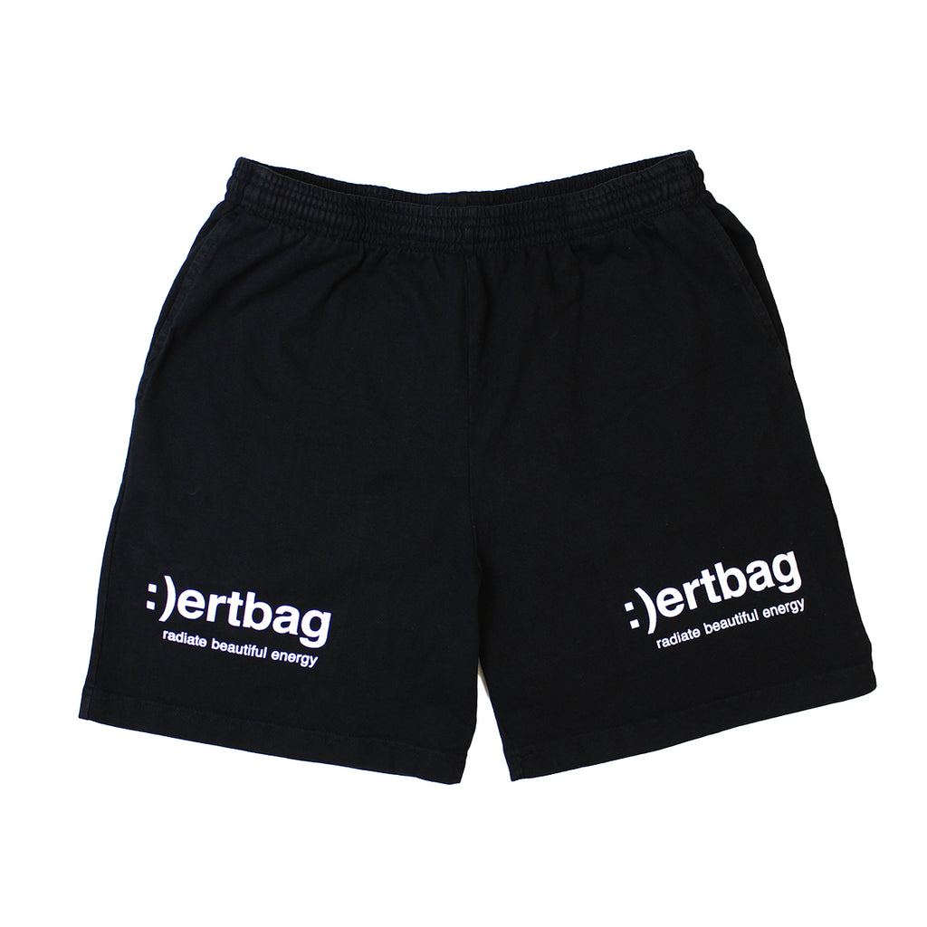 :)ertbag BLACK COTTON SHORTS