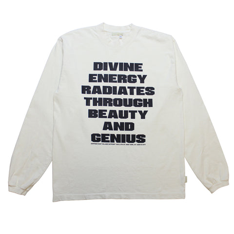 Divine Spell Out Antique White Longsleeve
