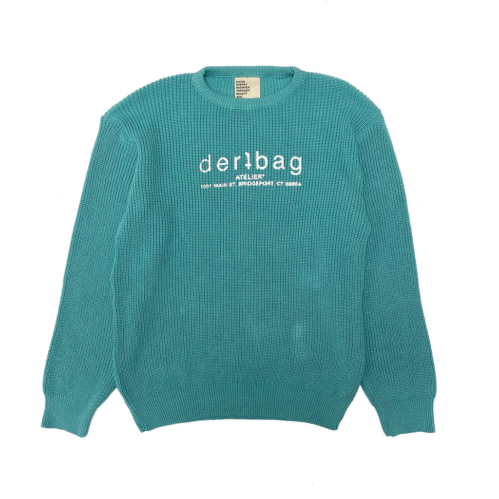 TEAL ATELIER KNIT SHAKER SWEATER