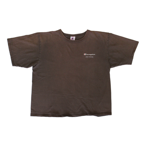 PRINTED PROTOYPE BROWN CHAMPION TEE XL