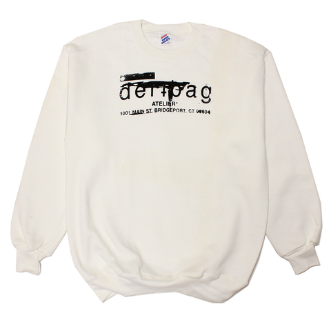 WHITE VINTAGE JERZEES SWEATER - LARGE