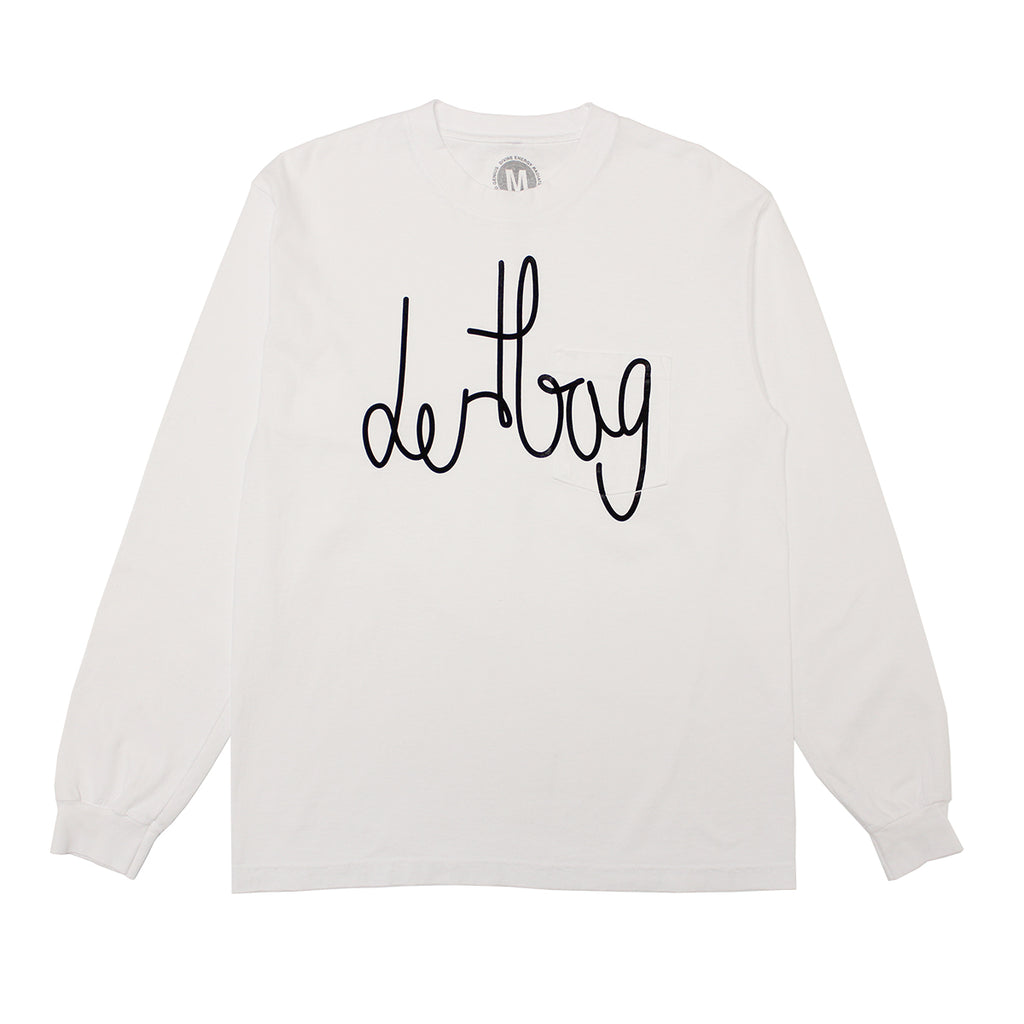 WHITE DERTBAG CONNECT POCKET LONGSLEEVE