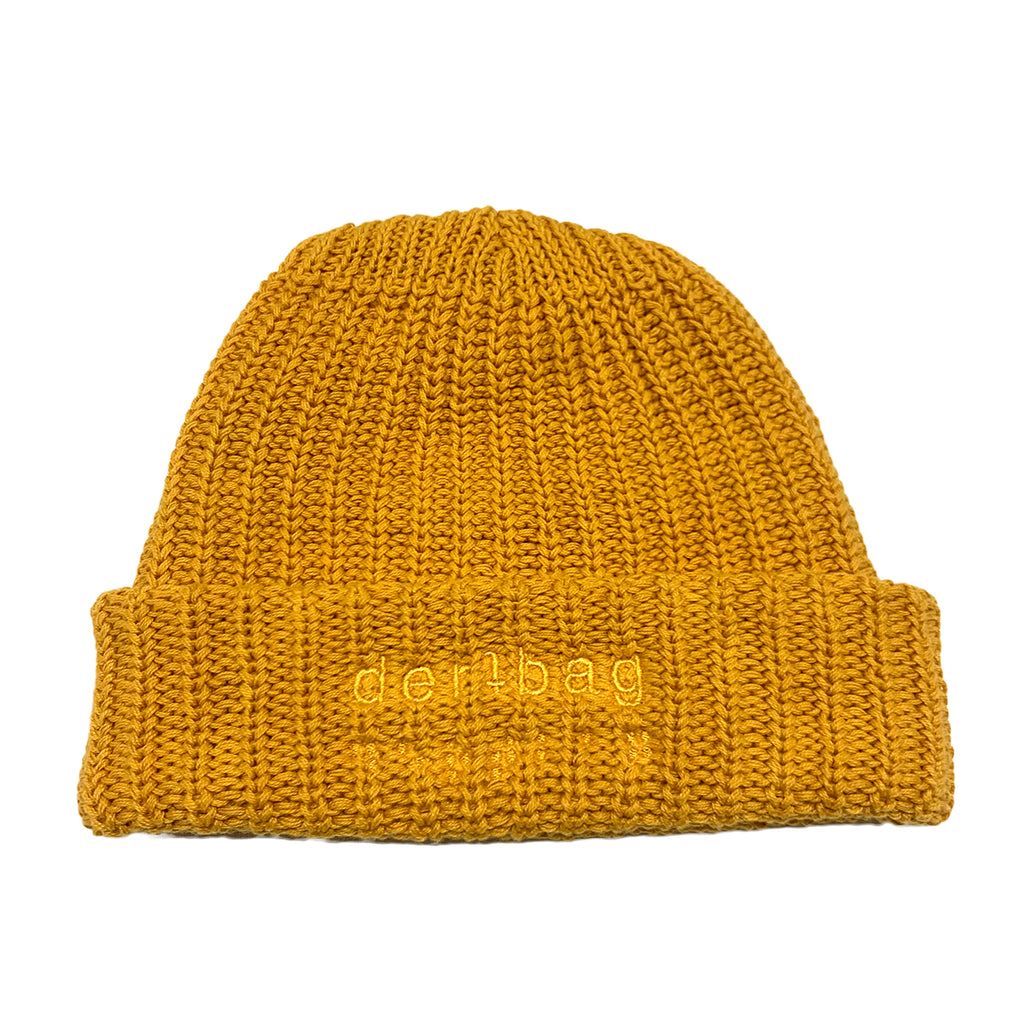 MINERAL YELLOW KNIT BEANIE