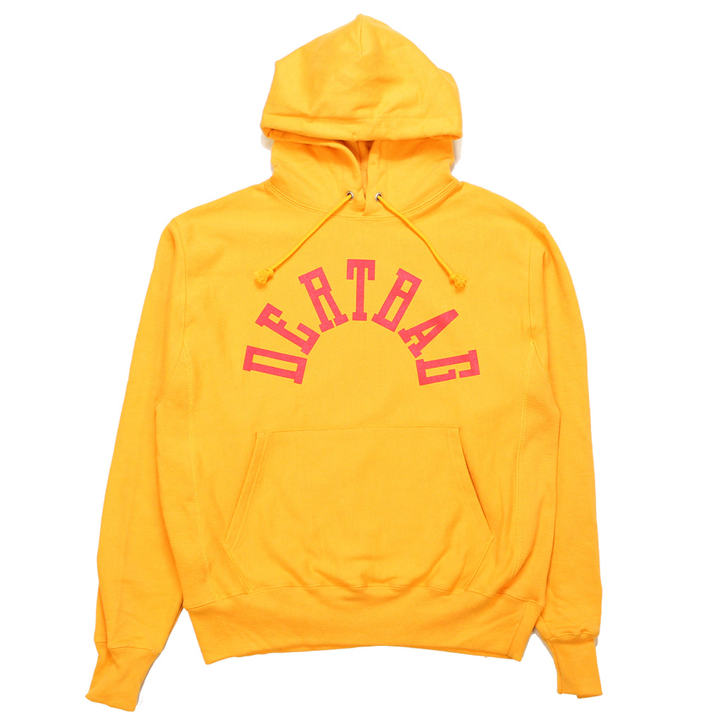 DERTBAG Yellow Reverse Weave Hoody
