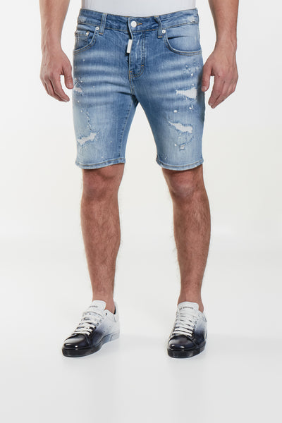 Light Blue Distressed Short My Brand