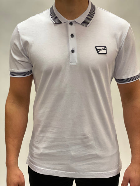 White Polo Logo Chest Antony Morato