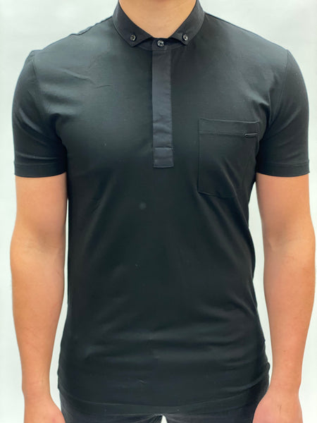 Black Polo Chest Pocket Antony Morato