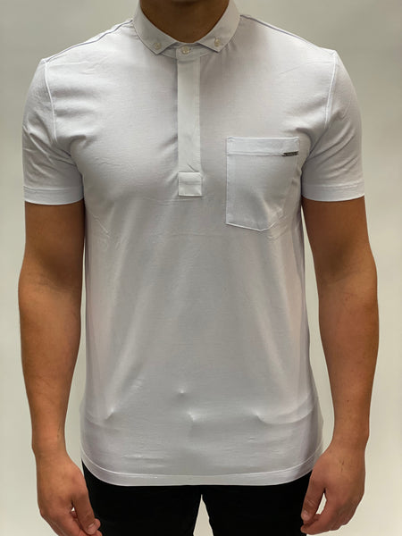 White Polo Chest Pocket Antony Morato