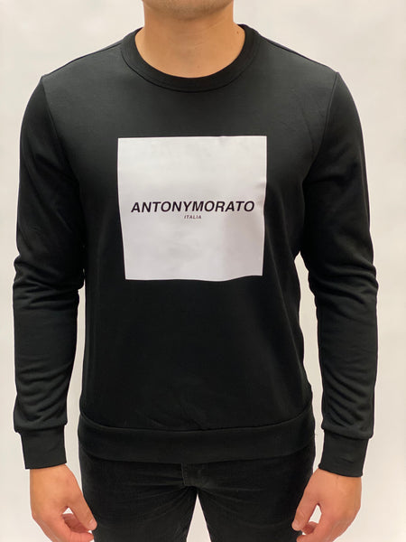 Black Sweater reflective Print Antony Morato