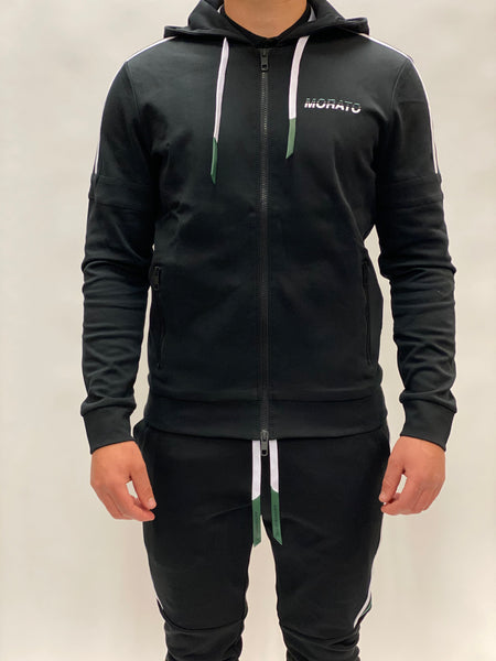 Black Tracksuit Green/White Stripe Antony Morato