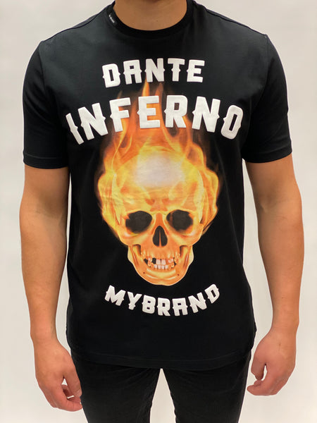 Black Fire Skull T-shirt My Brand