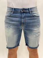 Light Blue Damaged Short Dave Antony Morato