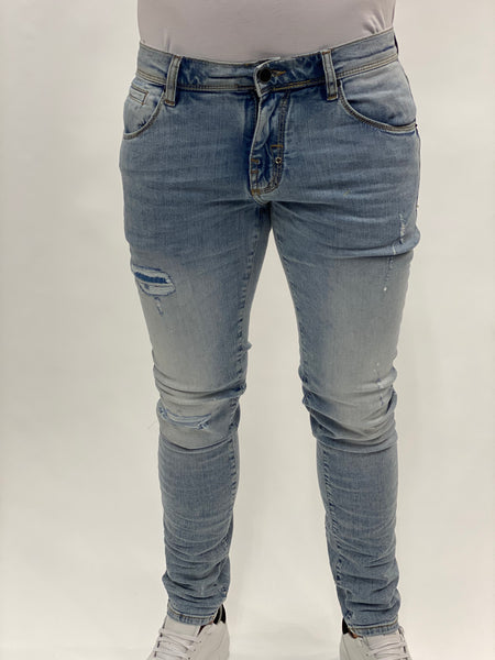 Light Blue damaged White Spots Jeans Ozzy Antony Morato