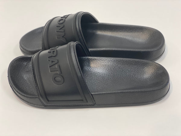 Black Comfortable Slide Rubber Antony Morato