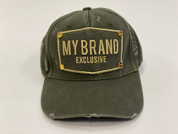 Exclusive petje in army/goud van My Brand.