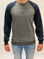 Grey/Navy Emporio Armani Sweater.