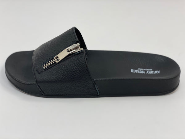 Black Zipper Slides Antony Morato.
