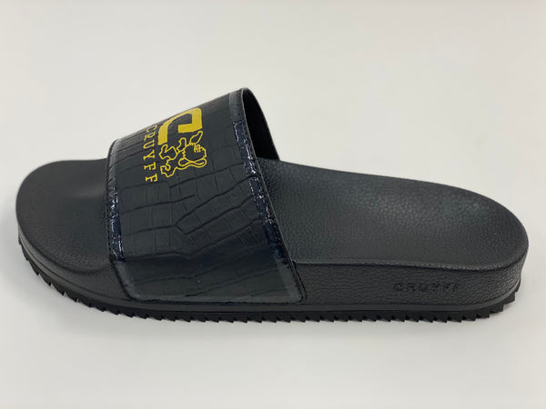 Black Logo Slides Cruyff.